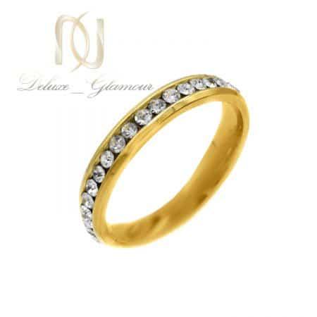 حلقه استیل نگین دار اسپرت طرح طلا rg-n641