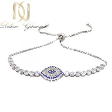 دستبند دخترانه نقره 925 اصل نگین دار ma-n543