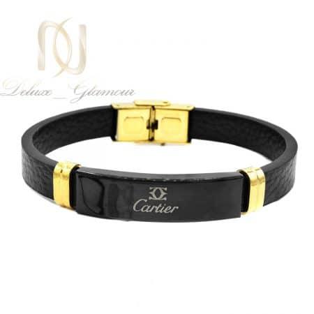 دستبند چرمی مردانه طرح کارتیر ds-n781