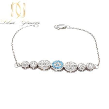 دستبند نقره دخترانه ظریف نگین دار ma-n551
