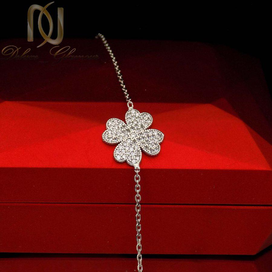 دستبند نقره ظریف دخترانه طرح گل ma n545 2 | دستبند نقره ظریف دخترانه طرح گل ma-n545