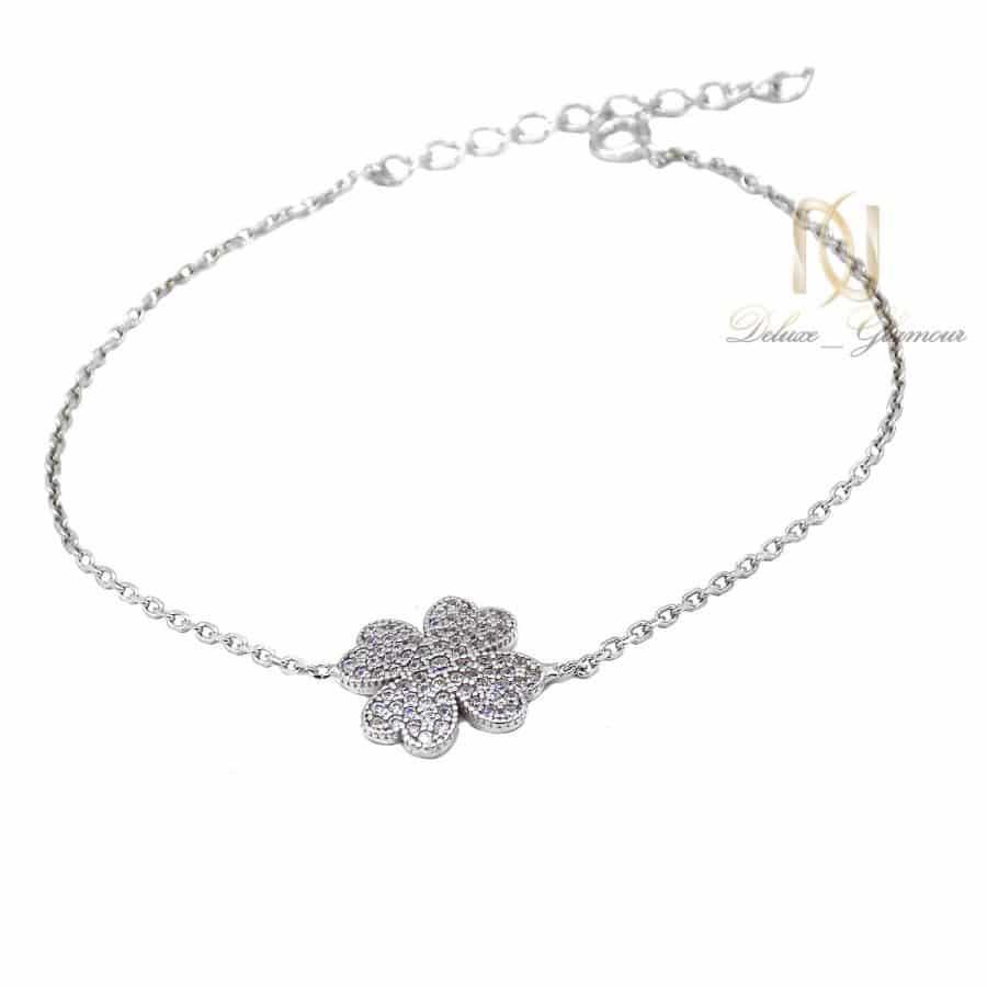 دستبند نقره ظریف دخترانه طرح گل ma n545 | دستبند نقره ظریف دخترانه طرح گل ma-n545