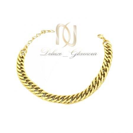 دستبند مردانه استیل طلایی شیک ds-n782