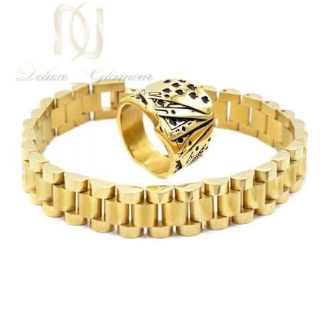 ست دستبند و انگشتر مردانه خاص استیل ns-n686
