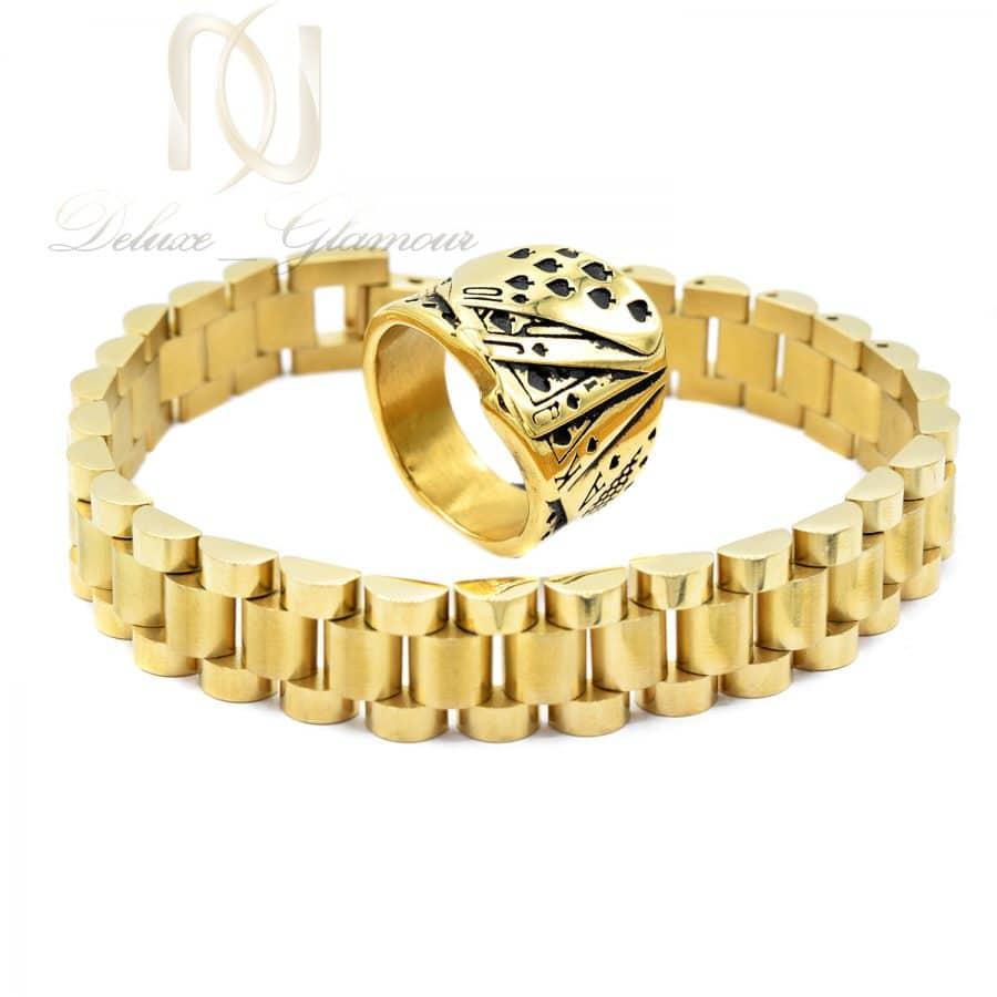 ست مردانه 2 | ست دستبند و انگشتر مردانه خاص استیل ns-n686