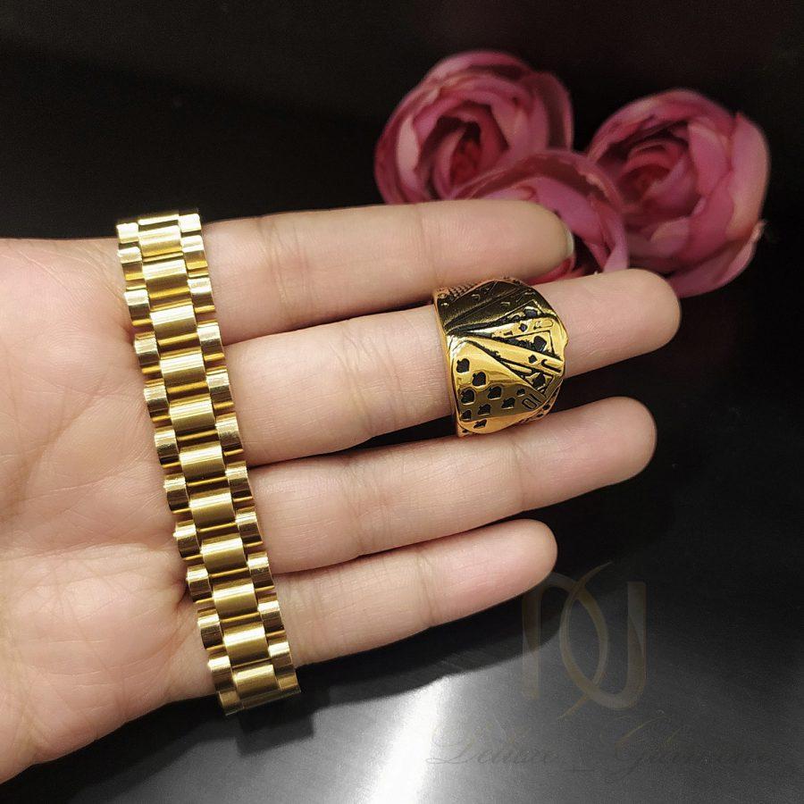 ست مردانه 3 | ست دستبند و انگشتر مردانه خاص استیل ns-n686