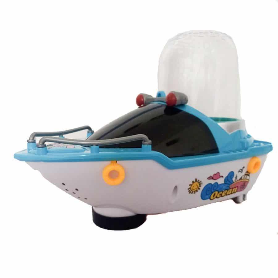 کشتی موزیکال چراغدار AY N124 2 | اسباب بازی کشتی موزیکال چراغدار AY-N124
