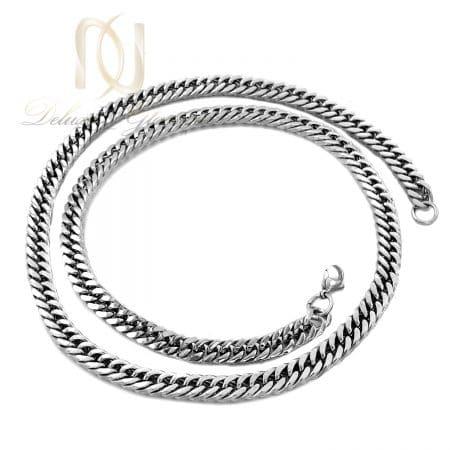 زنجیر مردانه کارتیر استیل نقره ای پهن nw-n726