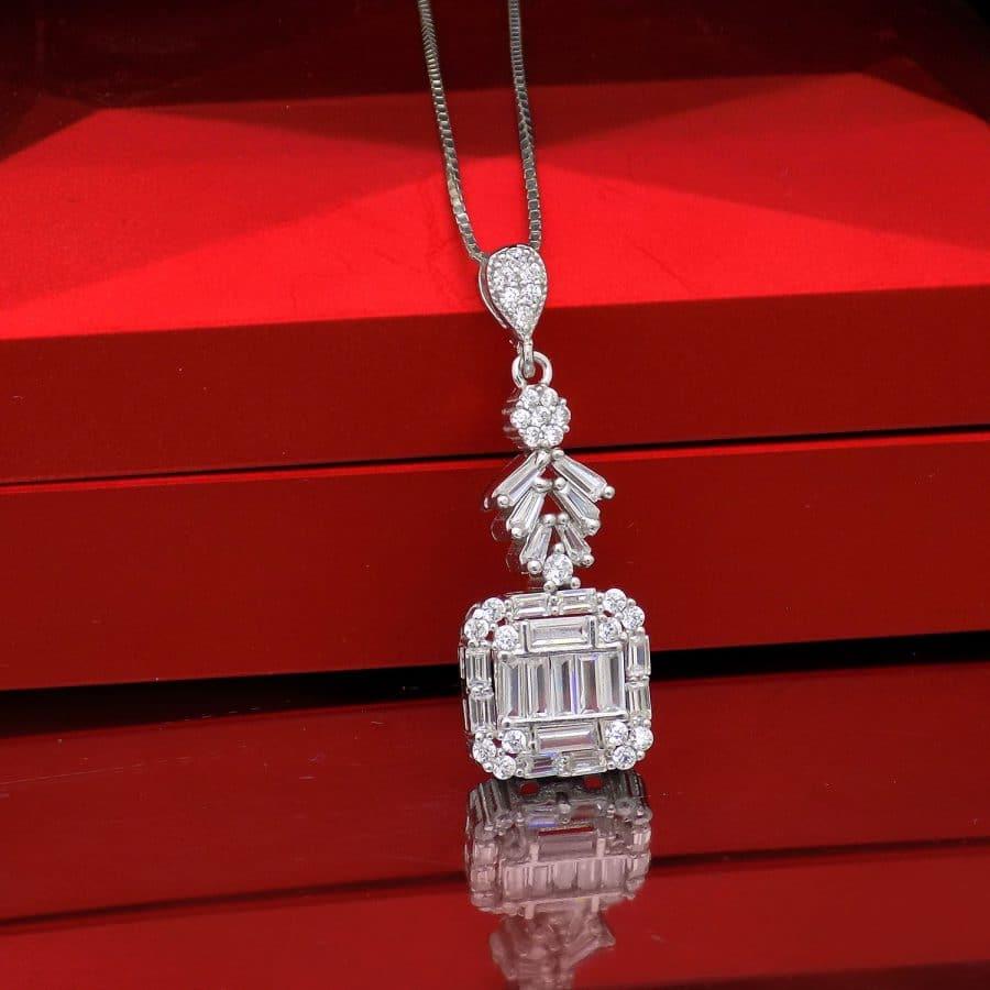 گردنبند نقره جواهری زنانه جدید ma n542 4 | گردنبند نقره جواهری زنانه جدید ma-n542
