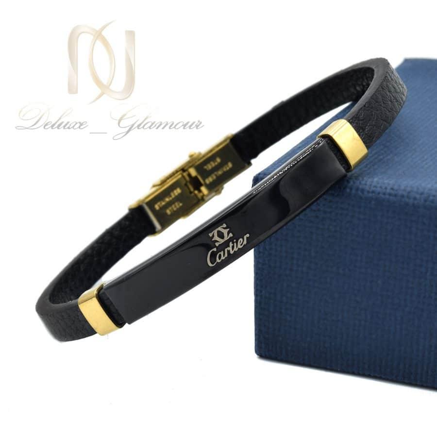 DSC 1373 | دستبند دخترانه چرم طرح کارتیر ds-n783