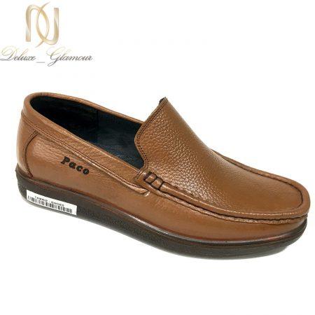 کفش مردانه چرم طبیعی طرح کالج sh-n220