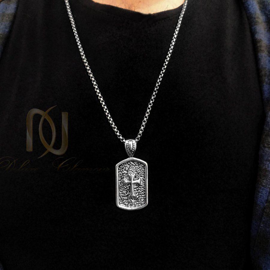 گردنبند مردانه استیل طرح صلیب خاص NW-N743