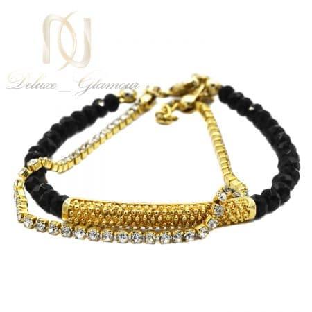 دستبند دخترانه فشن دو ردیفه کریستالی ds-n816