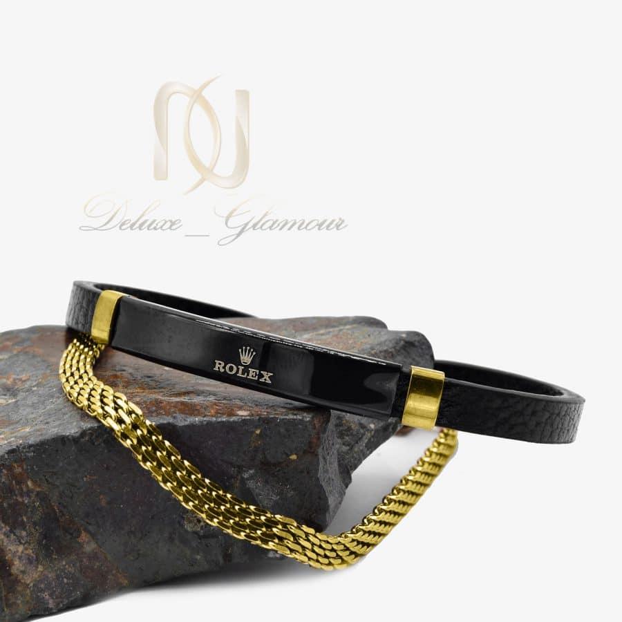دستبند مردانه ROLEX طلایی دو ردیفه DS-N825