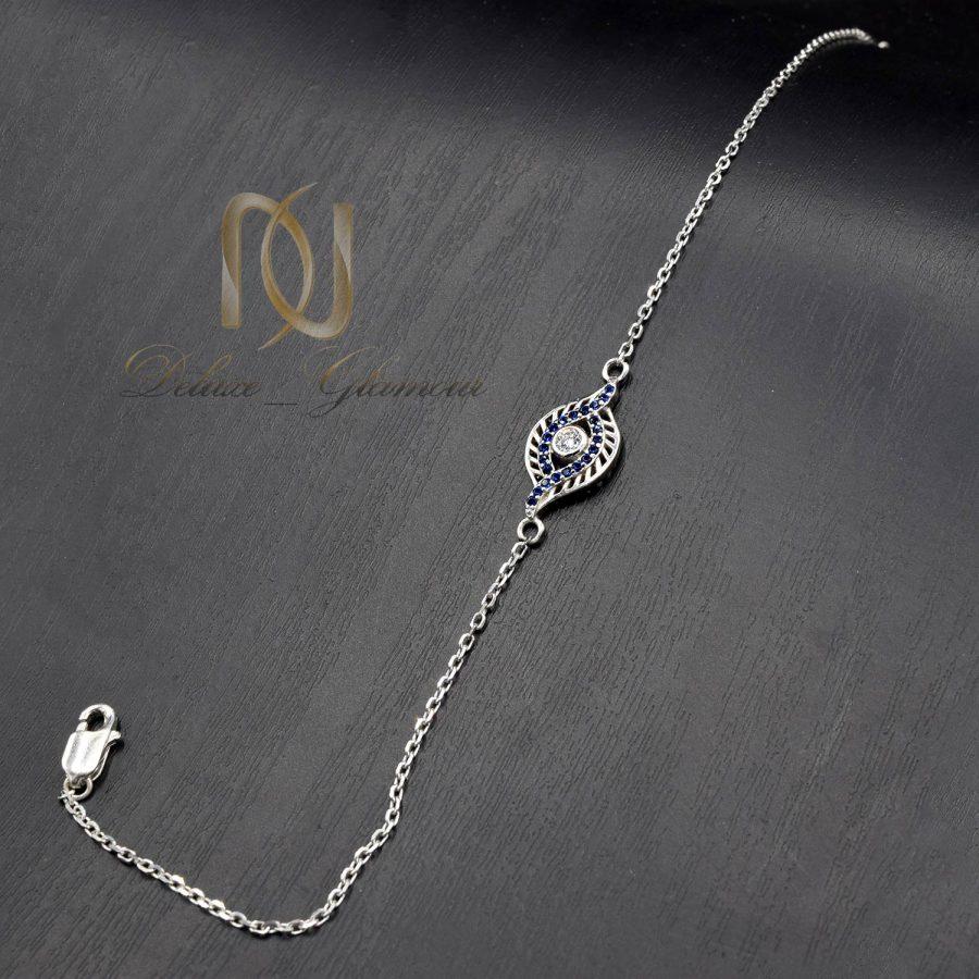 دستبند ظریف دخترانه نقره طرح چشم ds-n808