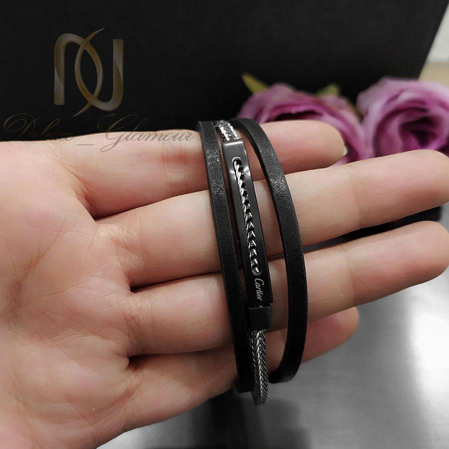 دستبند چرم مردانه خاص کارتیر ds-n812