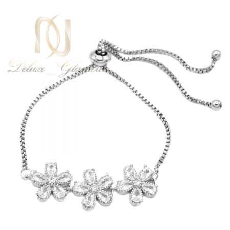 دستبند دخترانه شیک استیل طرح گل ds-n820