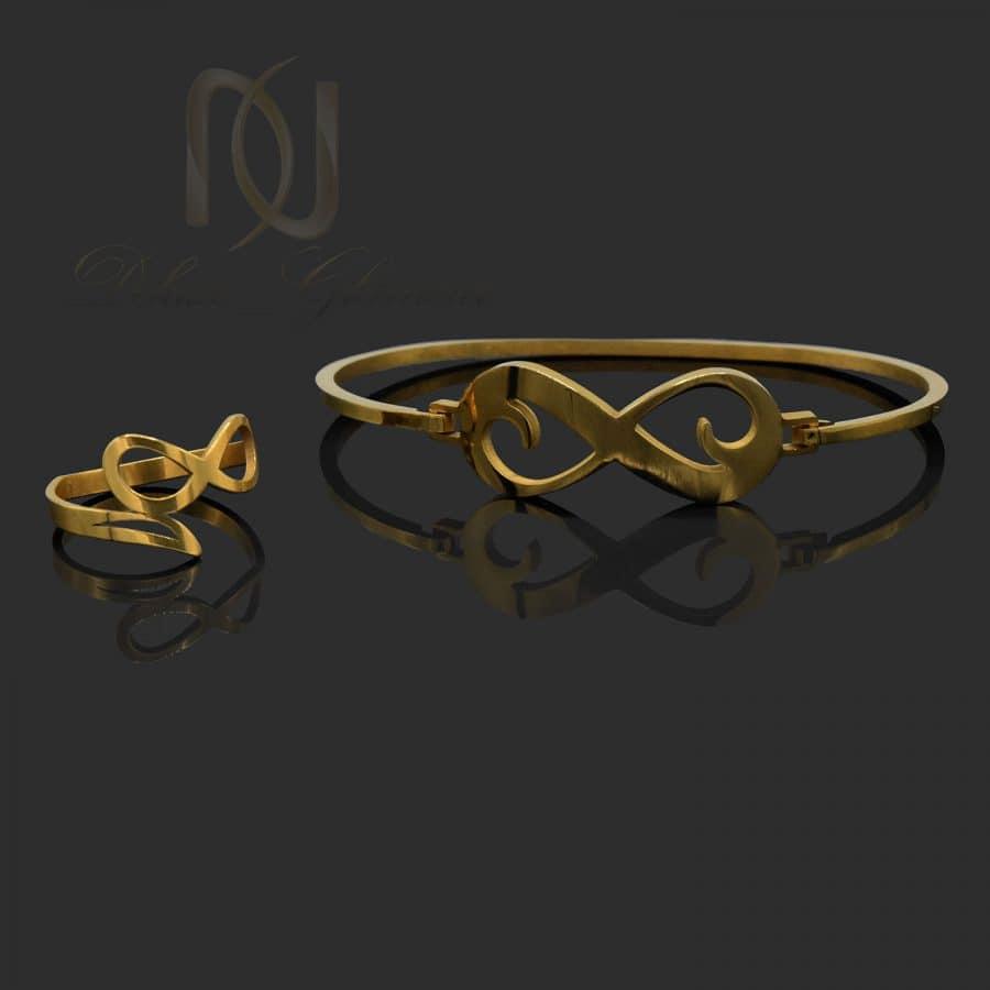 ست دستبند و انگشتر بی نهایت استیل ns-n705