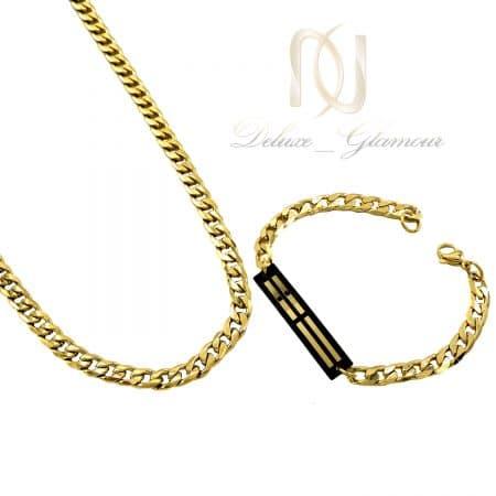 ست دستبند و گردنبند استیل مردانه ns-n803