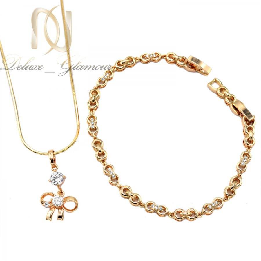 ست ژوپینگ 2 | ست دستبند و گردنبند ژوپینگ دخترانه ns-n800