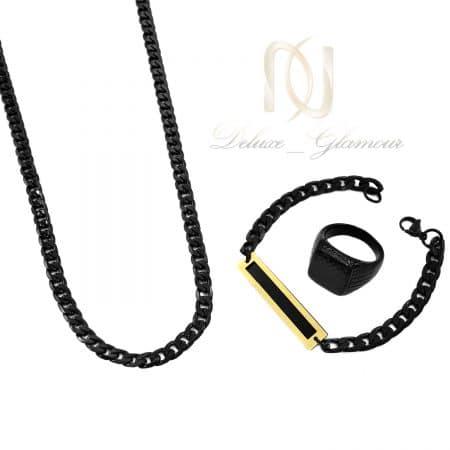 ست دستبند و گردنبند و انگشتر مردانه ns-n805