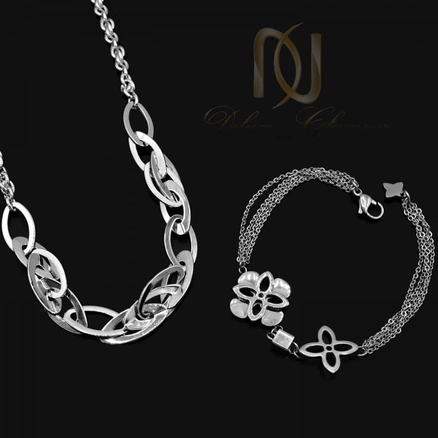 ست 2 1   ست دستبند و گردنبند زنانه طرح طلا ns-n706