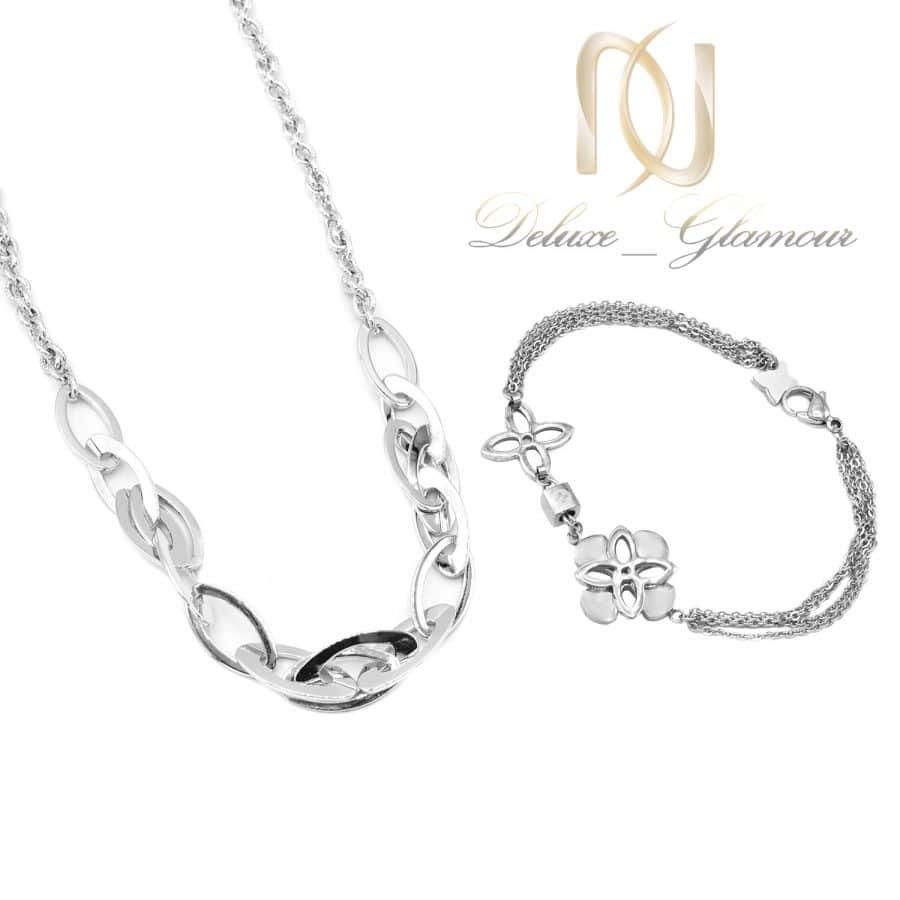ست 3 1   ست دستبند و گردنبند زنانه طرح طلا ns-n706
