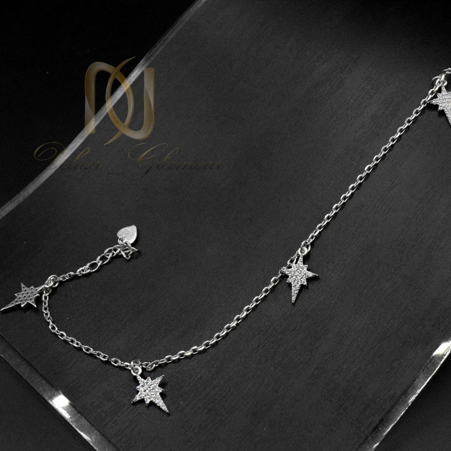 پابند نقره آویزدار طرح ستاره شیک pa-n168