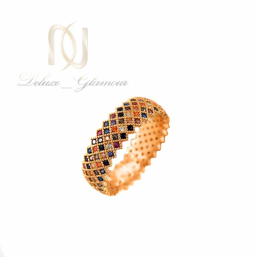 انگشتر پرنس نقره زنانه رزگلد نگین رنگی rg-n713