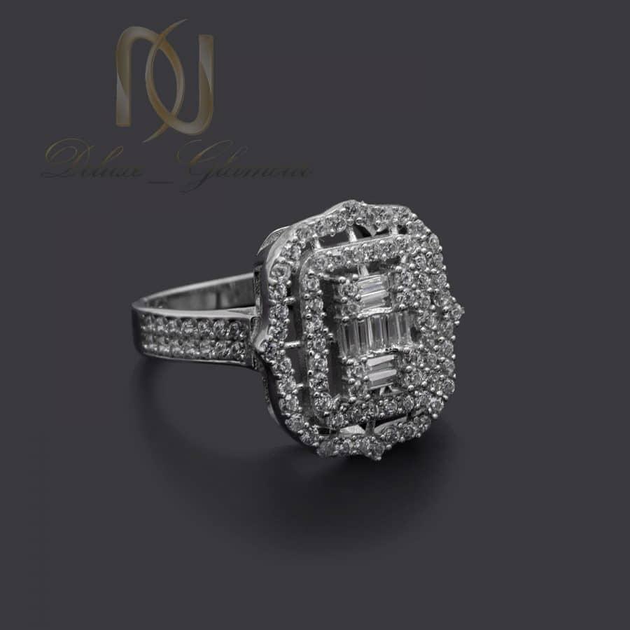 انگشتر نقره زنانه طرح طلا سفید شیک rg-n709