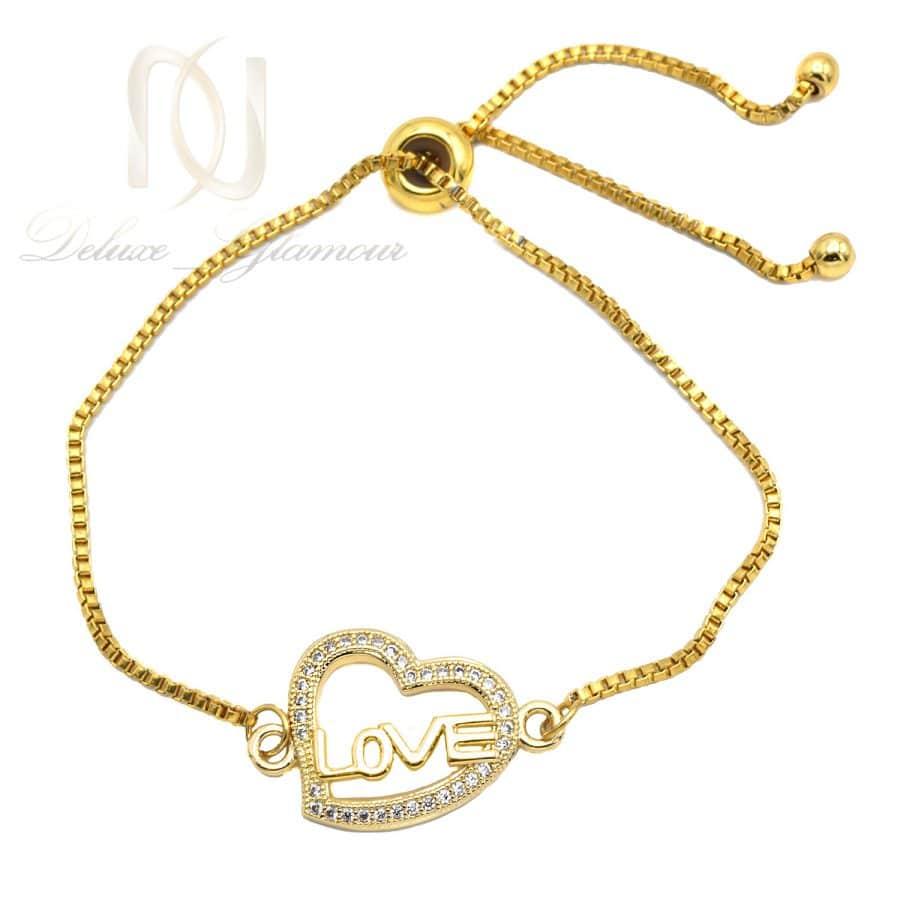دستبند دخترانه شیک استیل طلایی ds-n825