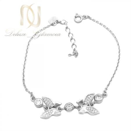 دستبند پروانه نقره خاص دخترانه شیک ds-n825