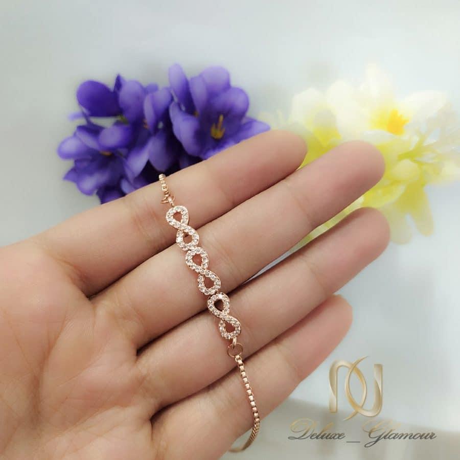 دستبند استیل رزگلد دخترانه ظریف ds-n827