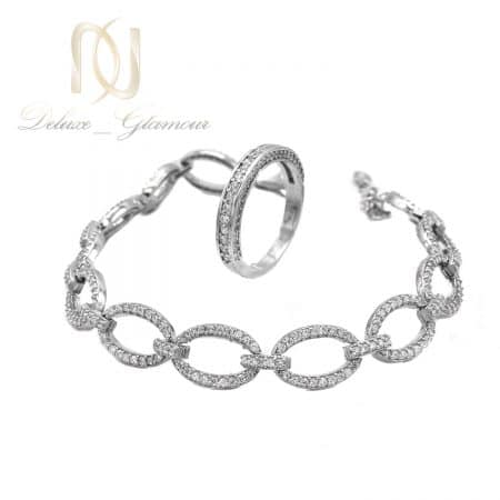 ست دستبند و انگشتر زنانه نقره اصل ns-n815