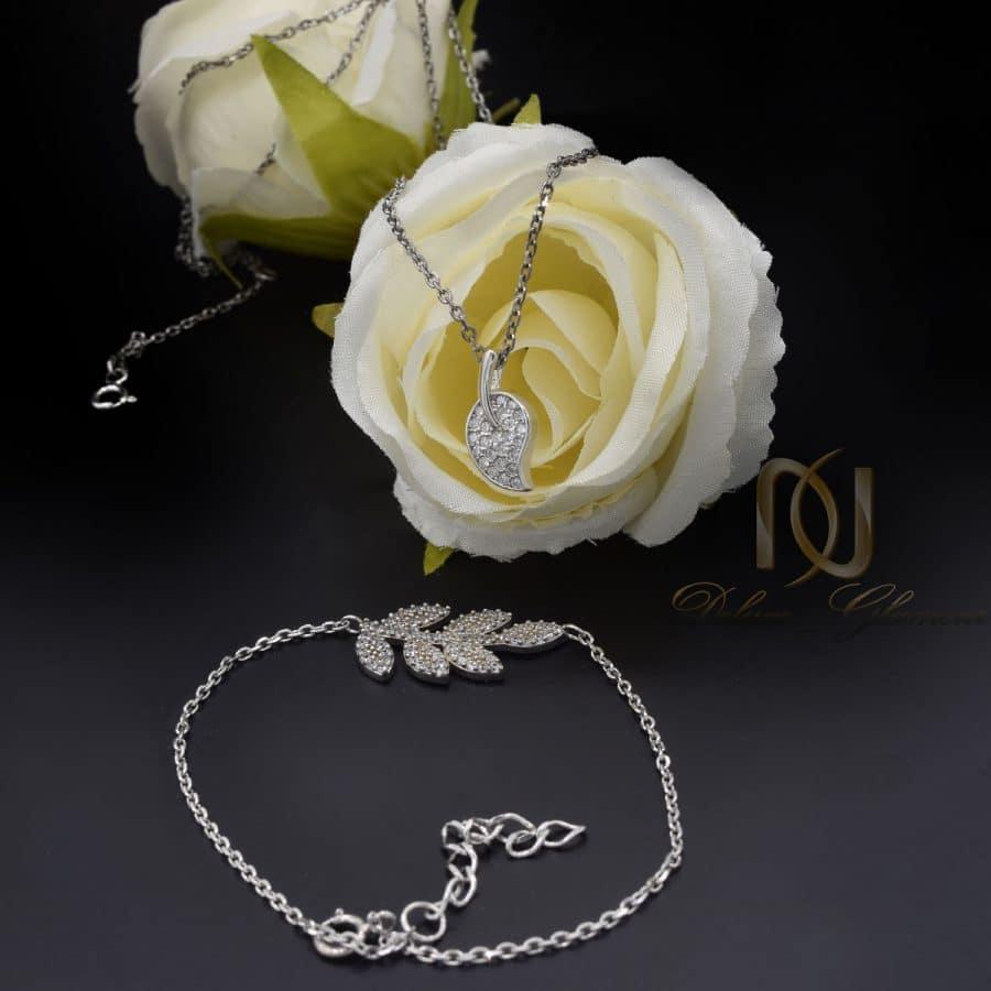 ست دستبند و گردنبند نقره عیار 925 2 | ست دستبند و گردنبند دخترونه ظریف ns-n818