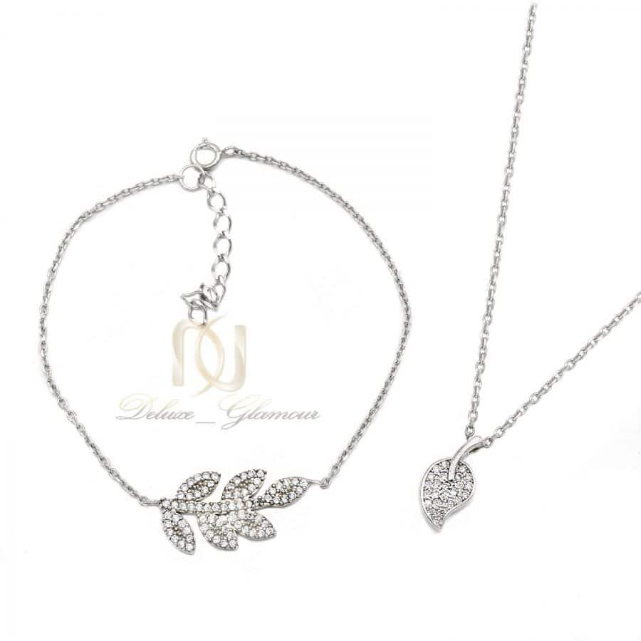 ست دستبند و گردنبند نقره عیار 925 3 | ست دستبند و گردنبند دخترونه ظریف ns-n818