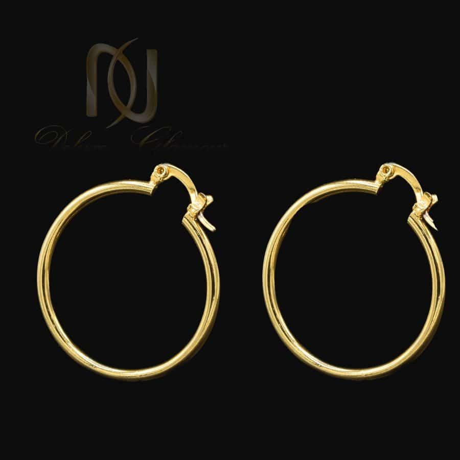 گوشواره حلقه ای استیل طلایی زنانه er-n269