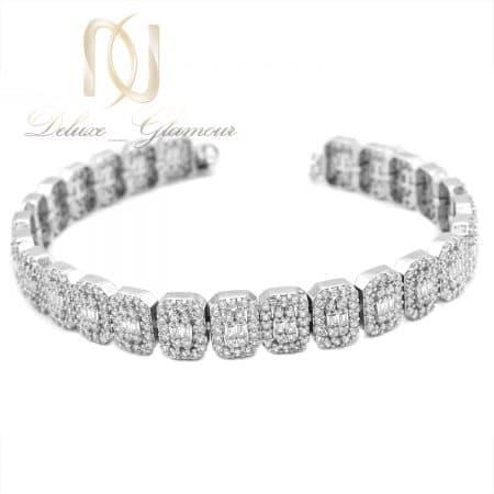 دستبند زنانه نگین دار نقره اصل طرح طلا ds-n843