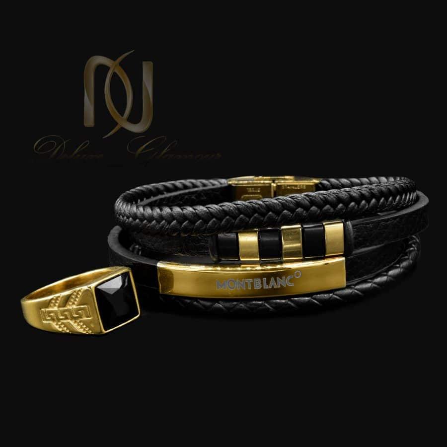 ست دستبند و انگشتر مردانه اسپرت ns-n828