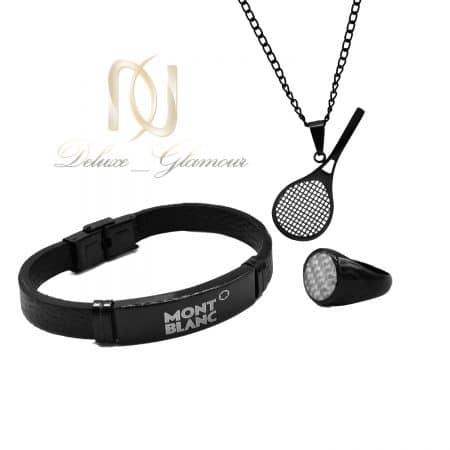 ست دستبند، گردنبند و انگشتر مردانه ns-n832
