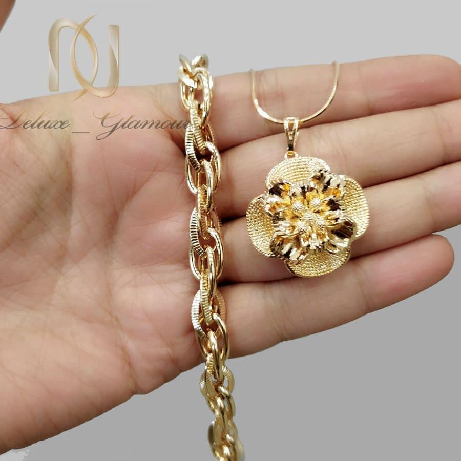 ست گردنبند و دستبند زنانه طرح طلا ns-n826