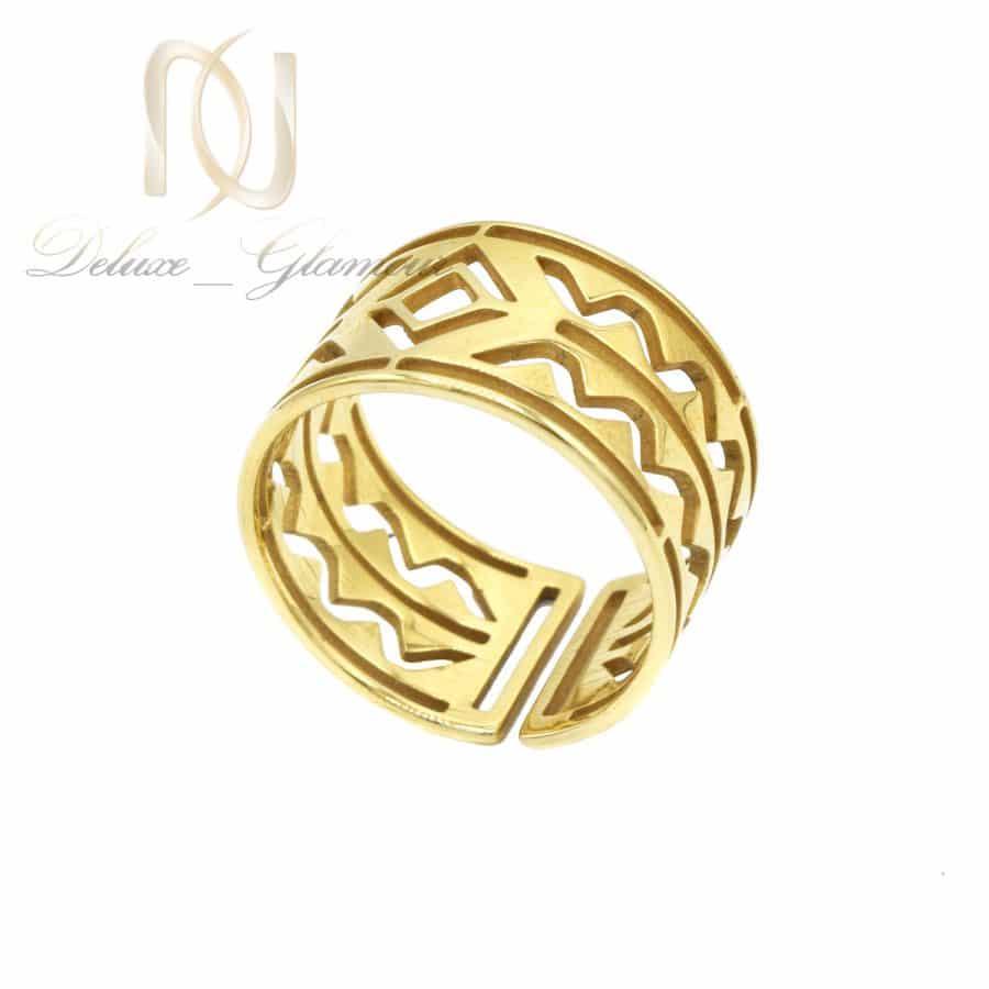 انگشتر زنانه 2 | انگشتر زنانه استیل طلایی خاص rg-n727