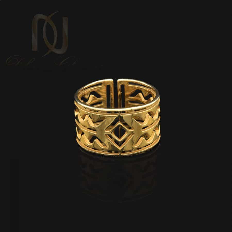 انگشتر زنانه استیل طلایی خاص rg-n727