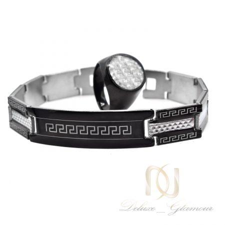 ست دستبند و انگشتر مردانه اسپرت ns-n843