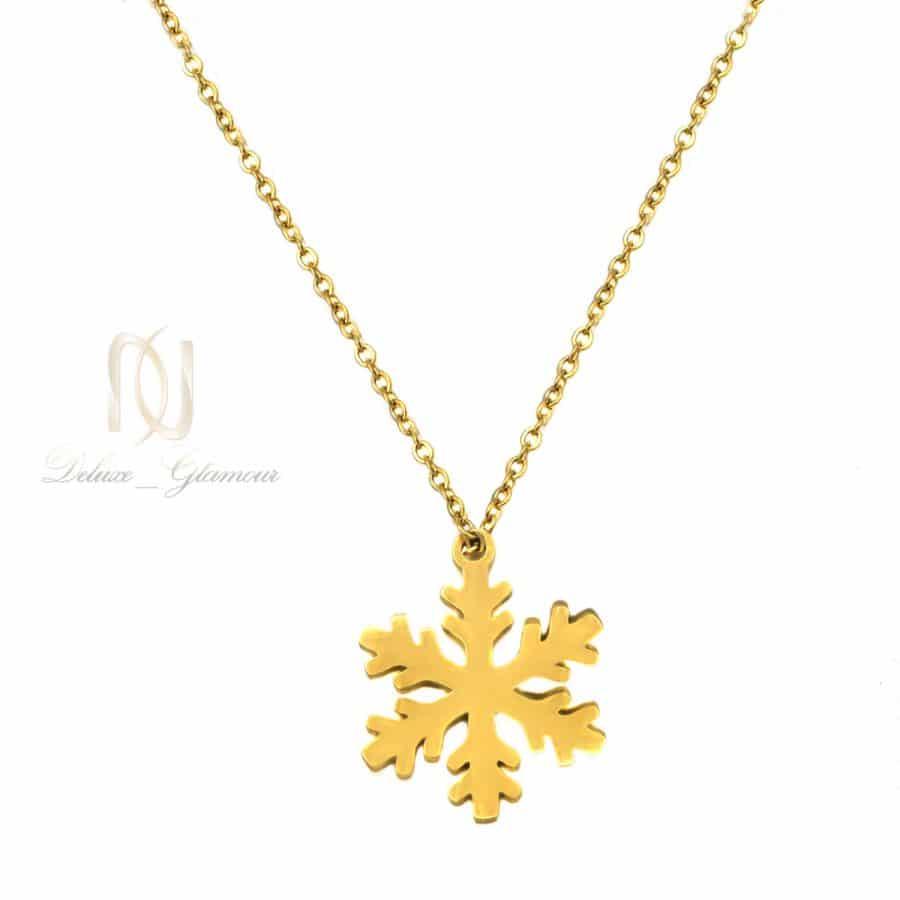 گردنبند استیل طرح برف دخترانه طلایی NW-N790