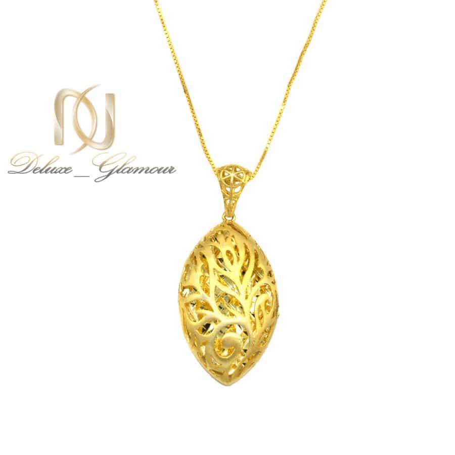 گردنبند نقره زنانه طرح طلا تراش nw-n791