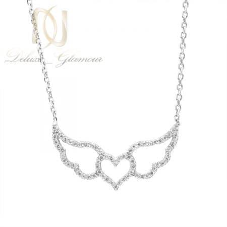گردنبند نقره خاص دخترانه طرح قلب بال دار nw-n795