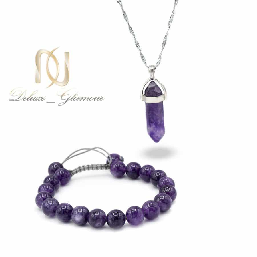 DSC 1646 | ست دستبند و گردنبند سنگ آمتیست اصل za-n708