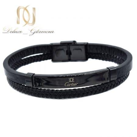 دستبند چرم مردانه کارتیر مشکی اسپرت ds-n853