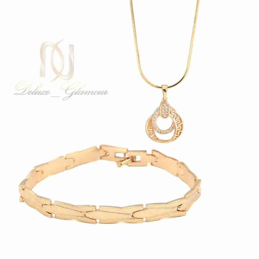 ست دستبند و گردنبند ژوپینگ طرح طلا ns-n840
